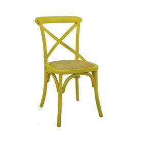 Cadeira Odense em Madeira Maciça - Amarelo