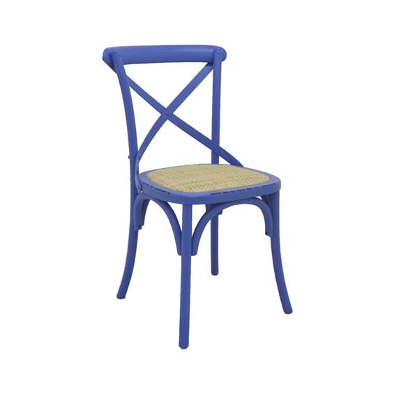 Cadeira Odense em Madeira Maciça - Azul