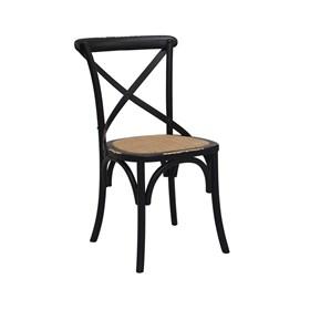 Cadeira Odense em Madeira Maciça - Preto