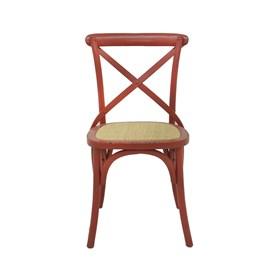 Cadeira Odense em Madeira Maciça - Vermelho