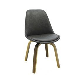 Cadeira Odin em Couro Sintético - Cinza Escuro