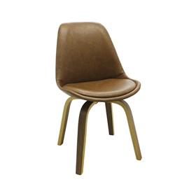 Cadeira Odin em Couro Sintético - Marrom