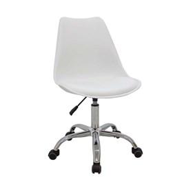 Cadeira Office Agata C/Base Cromada - Branco