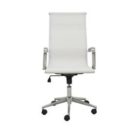 Cadeira Office Alta Brendan em Tela Mesh C/Base Giratória - Branco