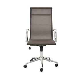 Cadeira Office Alta Brendan em Tela Mesh C/Base Giratória - Café