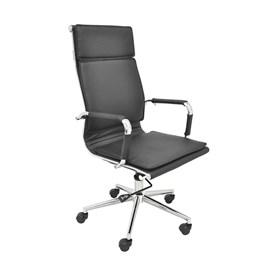 Cadeira Office Alta Galícia C/Base Cromada - Preto