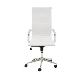 Cadeira Office Alta Hamilton C/Base Cromada - Branco
