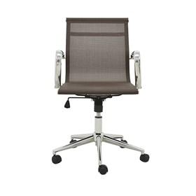 Cadeira Office Baixa Brendan em Tela Mesh C/Base Giratória - Café