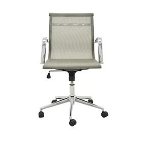Cadeira Office Baixa Brendan em Tela Mesh C/Base Giratória - Dourado