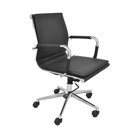 Cadeira Office Baixa Galícia C/Base Cromada - Preto