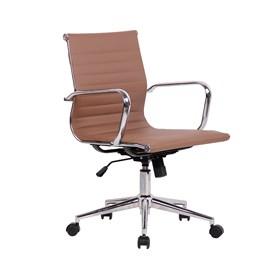 Cadeira Office Baixa Hamilton C/ Base Cromada - Fendi