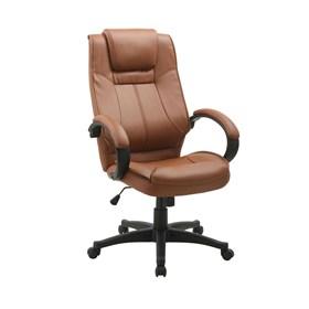 Cadeira Office Mattos em Couro Poliuretano - Marrom