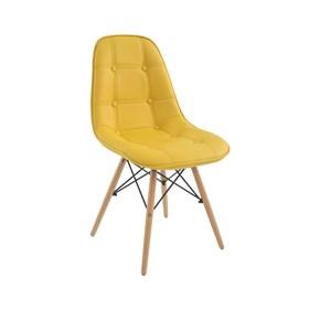 Cadeira Paris em Madeira Maciça e PU