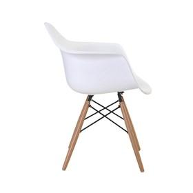 Cadeira Paris em Polipropileno C/Base de Madeira