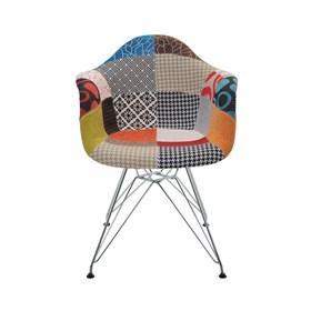 Cadeira Paris Patchwork C/Base Cromada