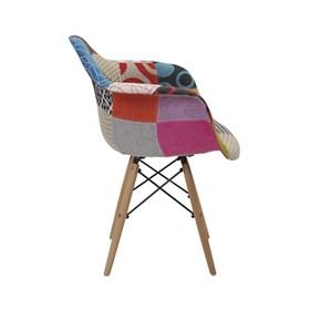 Cadeira Paris Patchwork C/Base em Madeira Maciça