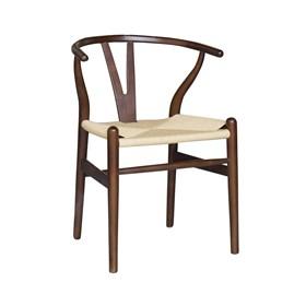 Cadeira Perseu em Madeira Maciça e Palha