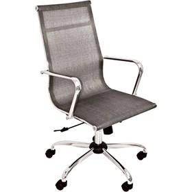 Cadeira Presidente Condado P/Escritório em Aço Cromado e Tela Mesh
