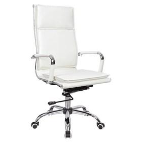 Cadeira Presidente Kinsale em Couro Ecológico - Branco