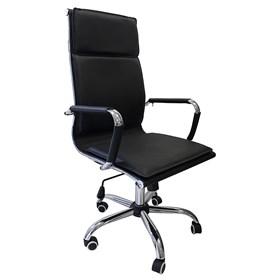 Cadeira Presidente Kinsale em Couro Ecológico - Preto