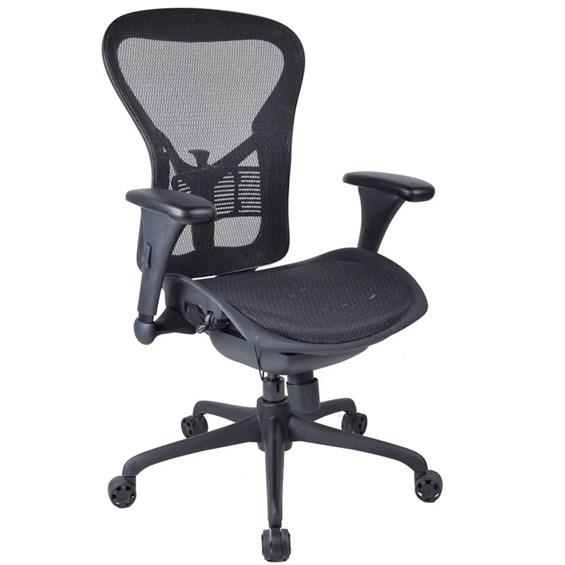 Cadeira Presidente Louth P/ Escritório em Tela Mesh e Nylon
