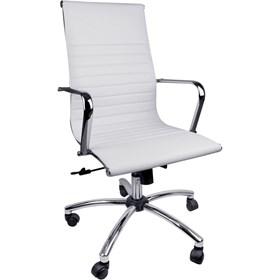 Cadeira Presidente Malahide P/Escritório em Couro e Aço Cromado