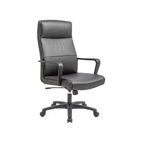 Cadeira Presidente Tramore com Assento em Couro Ecológico