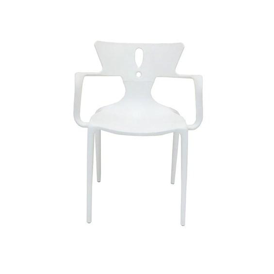 Cadeira Pudong Empilhável em Seta Branca