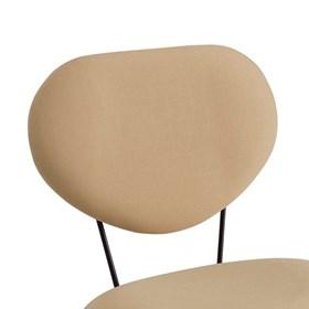 Cadeira Roddy C/Pés em Aço Carbono - Bege