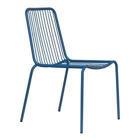 Cadeira Rorien em Metal - Azul Escuro