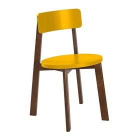 Cadeira Rupin em Madeira Maciça - Amarelo