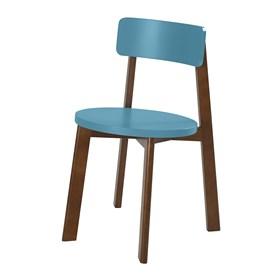 Cadeira Rupin em Madeira Maciça - Azul Ágata