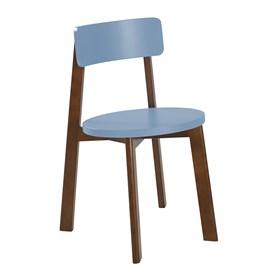 Cadeira Rupin em Madeira Maciça - Azul Celeste