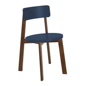 Cadeira Rupin em Madeira Maciça - Azul Marinho