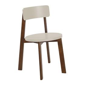 Cadeira Rupin em Madeira Maciça - Bege