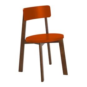 Cadeira Rupin em Madeira Maciça - Laranja