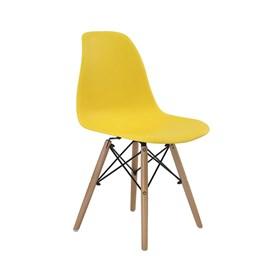 Cadeira S/Braço Paris em Polipropileno C/Base de Madeira