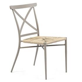 Cadeira S/Braço Skinny em Alumínio e Rattan para Jardim