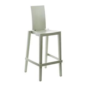 Cadeira Sean em Polietileno C/Encosto Retangular - Greyish Green