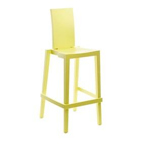 Cadeira Sean em Polietileno C/Encosto Retangular - Lime Yellow