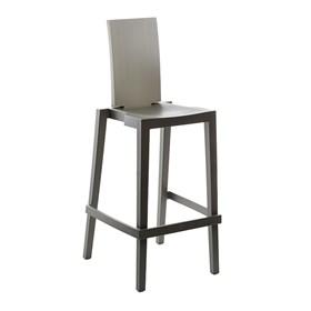 Cadeira Sean em Polietileno C/Encosto Retangular - Medium Iron Grey