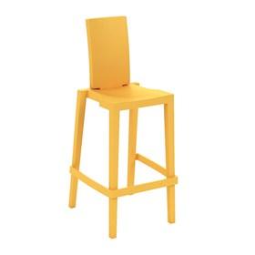 Cadeira Sean em Polietileno C/Encosto Retangular - Orange