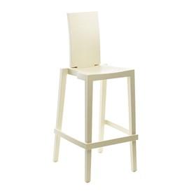 Cadeira Sean em Polietileno C/Encosto Retangular - Yellowish White