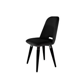Cadeira Selina Ta Preto Giratória em Veludo - Inca 13