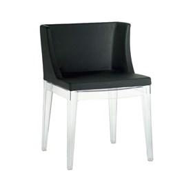 Cadeira Stefano em Couro Sintético - Preto