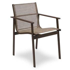 Cadeira Tebas em Alumínio C/Tela Sintética Transparente