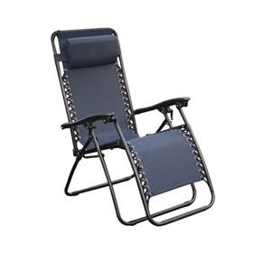 Cadeira Topplin Reclinável em Aço Carbono - Azul Marinho