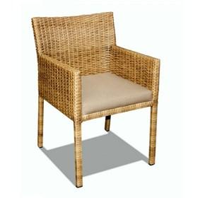 Cadeira Udine Dourado em Alumínio C/Estrutura Revestida de Fibras Sintéticas