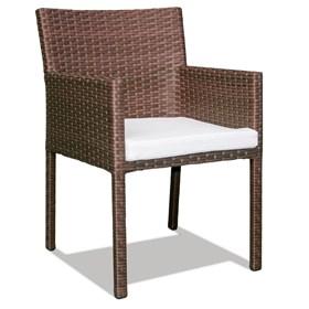 Cadeira Udine Marrom em Alumínio C/Estrutura Revestida de Fibras Sintéticas