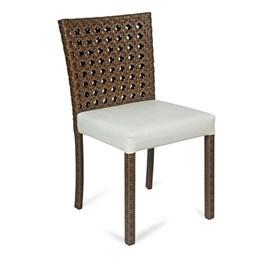 Cadeira Valéria em Alumínio e Revestimento de Fibra Sintética